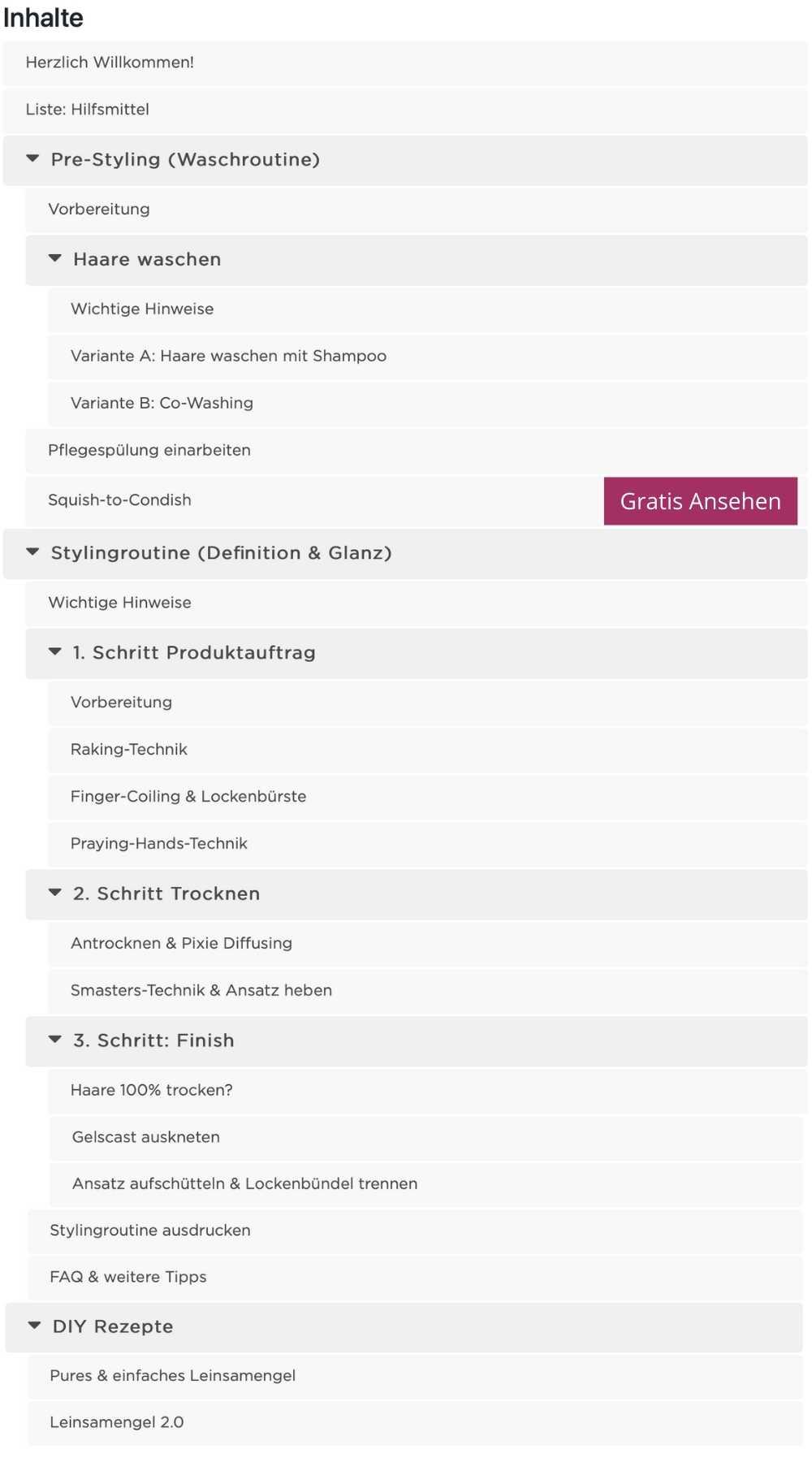 Stylingkurs Definition & Glanz Inhalte_2
